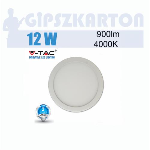LED PANEL felületre szerelhető kerek / 12W / SKU4911