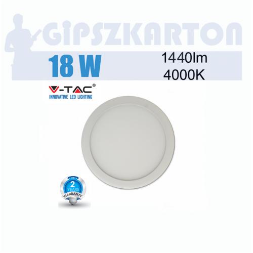 LED PANEL felületre szerelhető kerek / 18W / SKU4917