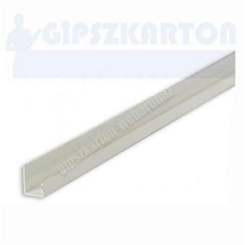 "Gipszkarton PVC befogó ""J"" profil"