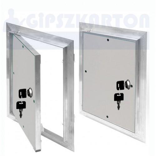 Normál gipszkarton betétes szerelőajtó / kulcsos