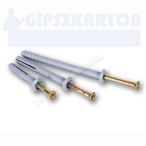Műanyag beütős gipszkarton dübel 6*40mm