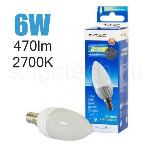 LED gyertya izzó / 6W / E14