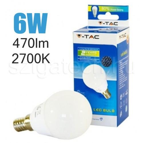 LED kisgömb izzó / 6W / E14