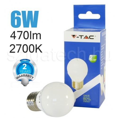 LED kisgömb izzó / 6W / E27