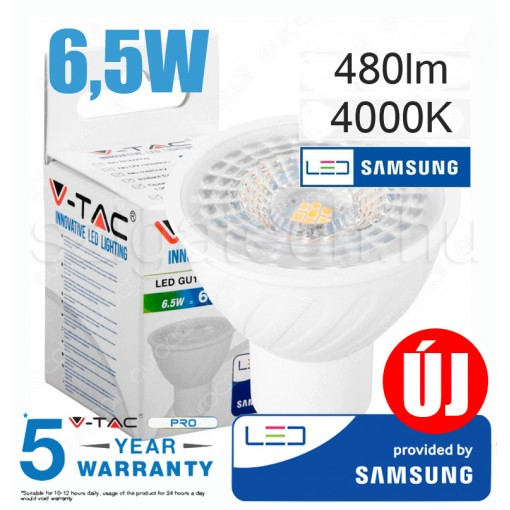 GU 10 LED Spot izzó / 6,5W