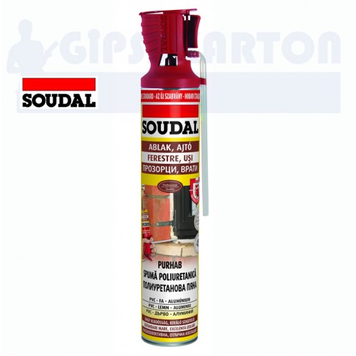 Soudal Ablak-Ajtó poliuretán ragasztó 750 ml