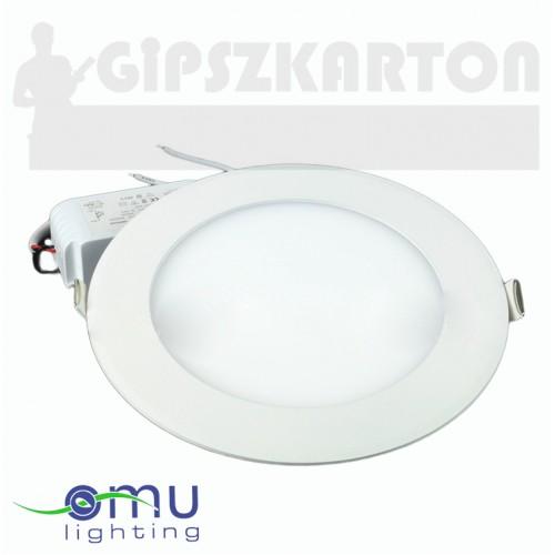 Süllyesztett LED PANEL kerek táppal / 12W / 158 mm