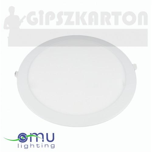 Süllyesztett LED PANEL kerek táppal / 18W / 210 mm