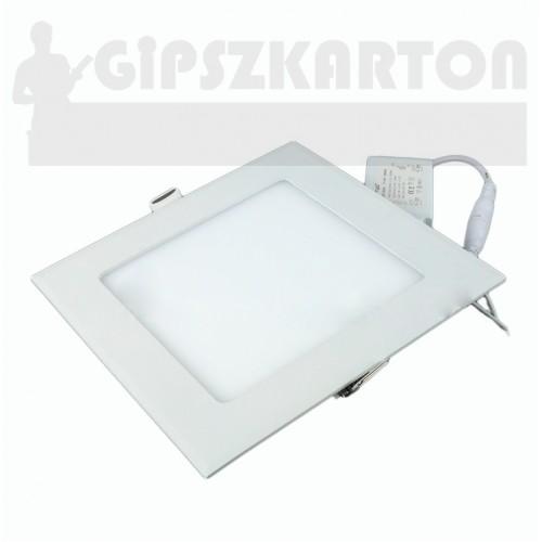 Süllyesztett LED PANEL szögletes táppal / 12W / 158x158 mm