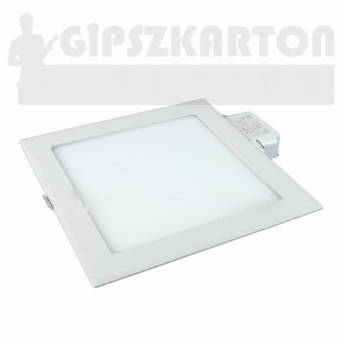 Süllyesztett LED PANEL szögletes táppal / 18W / 210x210 mm