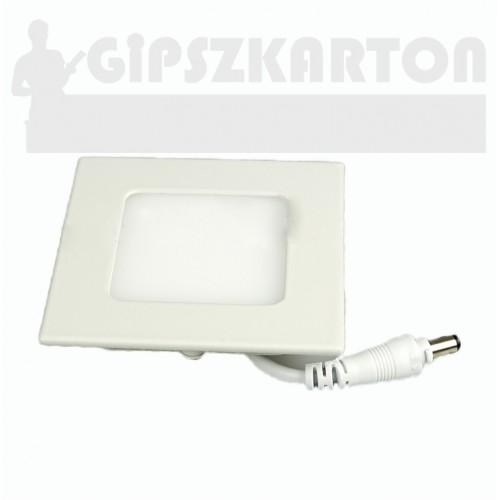Süllyesztett LED PANEL szögletes táppal / 3W / 75x75 mm