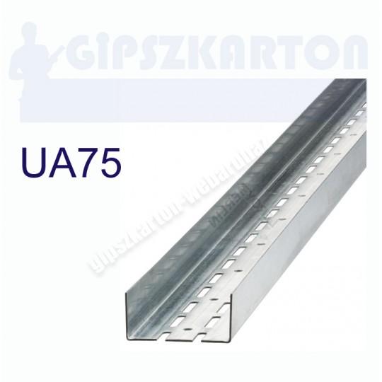 Gipszkarton merevítő profil UA75