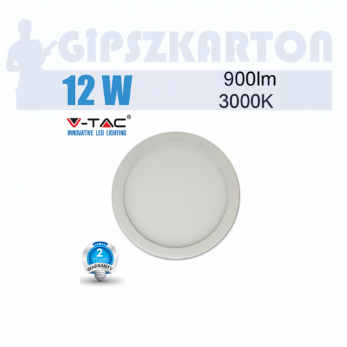 LED PANEL felületre szerelhető kerek / 12W / SKU4910