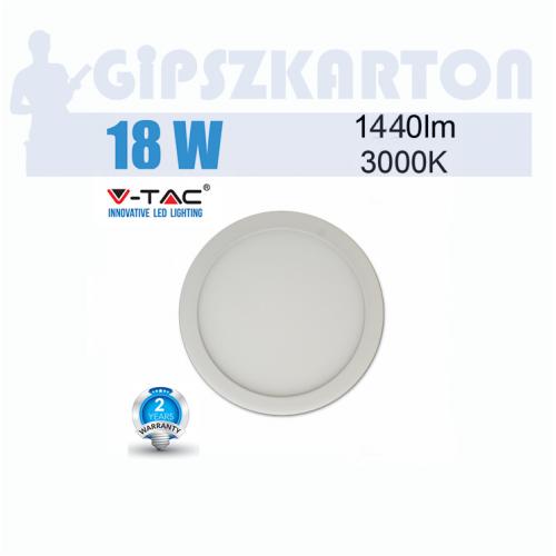LED PANEL felületre szerelhető kerek / 18W / SKU4916