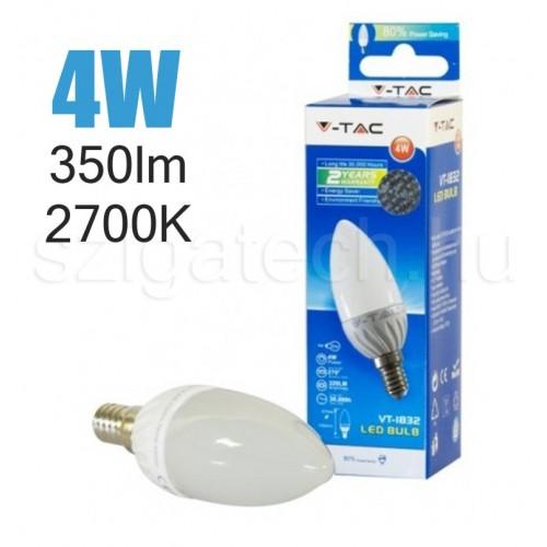 LED gyertya izzó / 4W / E14