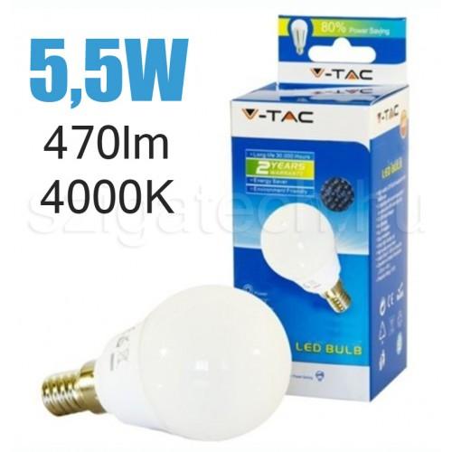 LED kisgömb izzó / 5,5W / E14