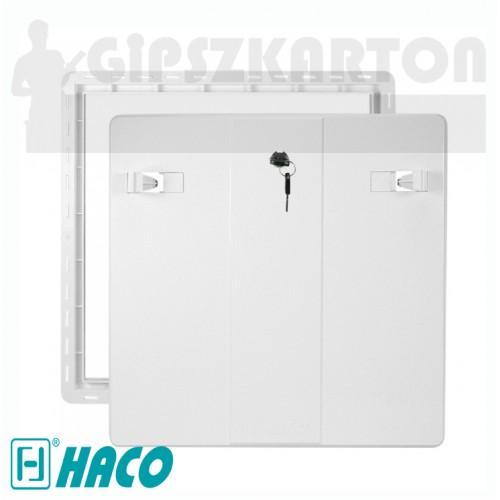 Haco műanyag revíziós ajtó zárral (fehér)